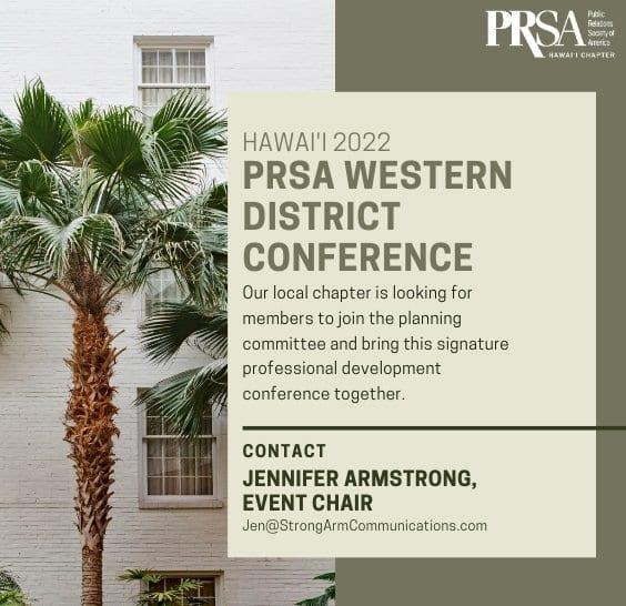 Hawaii 2022 PRSA Western District Conference